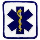 Eagle Emblems PM4104 Patch-Ems, Logo, Square (Blu/Wht) (3-1/4