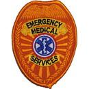 Eagle Emblems PM4107 Patch-Ems, Shield (Blk/Gld) (3-1/2