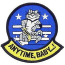 Eagle Emblems PM5015 Patch-Usn, Tomcat, Anytime (3-3/8