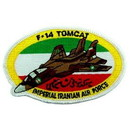 Eagle Emblems PM5128 Patch-Usaf, Tomcat, Iran, F- 14 (3-3/4