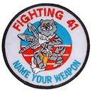 Eagle Emblems PM5288 Patch-Usn, Tomcat, Fight 41 (3
