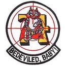 Eagle Emblems PM5348 Patch-Usn, Tomcat, Bedevile (3-3/8