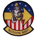 Eagle Emblems PM5352 Patch-Usn, Tomcat, Sluggers (3-3/8
