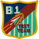 Eagle Emblems PM5356 Patch-Usaf, B-01 Test Team (3-1/4
