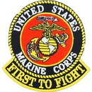 Eagle Emblems PM5394 Patch-Usmc, First To Fight (3-1/4