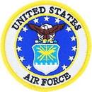 Eagle Emblems PM5402 Patch-Usaf Emblem (03A) Made In Usa (3