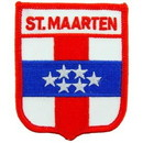 Eagle Emblems PM6331 Patch-Saint Maarten (Shield) (2-1/2