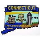 Eagle Emblems PM6707 Patch-Connecticut (State Map) (3