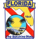 Eagle Emblems PM6710 Patch-Florida (State Map) (3