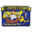 Eagle Emblems PM6722 Patch-Massachusetts (State Map) (3