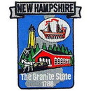 Eagle Emblems PM6730 Patch-New Hampshire (State Map) (3