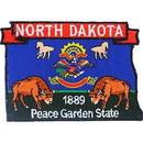 Eagle Emblems PM6735 Patch-North Dakota (State Map) (3