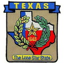 Eagle Emblems PM6744 Patch-Texas (State Map) (3-1/4