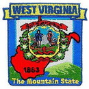 Eagle Emblems PM6749 Patch-West Virginia (State Map) (3