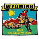 Eagle Emblems PM6751 Patch-Wyoming (State Map) (3