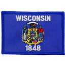Eagle Emblems PM6850 Patch-Wisconsin (Flag) (2-1/4