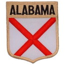 Eagle Emblems PM6901 Patch-Alabama (Shield) (2-7/8
