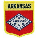 Eagle Emblems PM6904 Patch-Arkansas (Shield) (2-7/8
