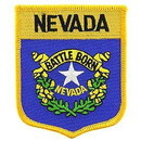 Eagle Emblems PM6929 Patch-Nevada (Shield) (2-7/8