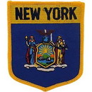 Eagle Emblems PM6933 Patch-New York (Shield) (2-7/8