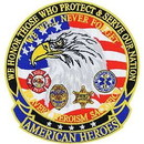 Eagle Emblems PM7812 Patch-American Heroes (Lrg) (5-1/4