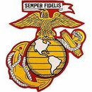 Eagle Emblems PM9068 Patch-Usmc Ega (06) (Ylw/Wht) (6-1/2