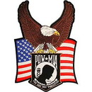 Eagle Emblems PM9151 Patch-Pow*Mia, Eagle/Flag (11