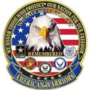 Eagle Emblems SG9017 Sign-American Warriors (12
