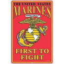Eagle Emblems SG9110 Sign-U.S.Marines, First To Fight (12