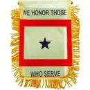 Eagle Emblems WF1360 Mini-Ban We Honor Those Who Serve (3