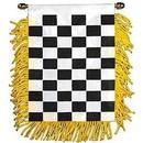 Eagle Emblems WF1405 Mini-Ban Checkered (3