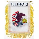 Eagle Emblems WF1514 Mini-Ban, Sta, Illinois (3