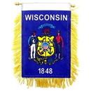 Eagle Emblems WF1550 Mini-Ban, Sta, Wisconsin (3