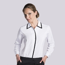 Executive Apparel 2433 Women's Tailored  Blouse with Black Trim