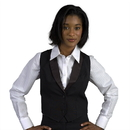 Executive Apparel 8131 Women's Tuxedo Vest Gourmet Lined with Satin Collar