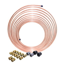 AGS CNC-325K 3/16 x 25 Nickel Copper Brake Line Coil and Tube Nut Kit