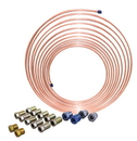AGS CNC-425K 1/4 x 25 Nickel Copper Brake Line Coil and Tube Nut Kit