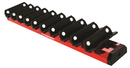 E-Z RED WR10-RD 10 Slot Red Magnetic Wrench Rack