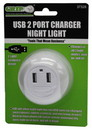 Grip-On-Tools 37328 2 USB Port Charger with Safety Light