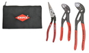 Knipex Tools Lp KX9K0080123US 3 Pc Cobra Pliers And Angled Long Nose Set