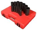 Sunex Tool SU2858 13 Piece 1/2 Drive 8 Pt. SAE Impact Socket Set