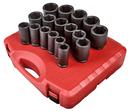 Sunex Tool SU4685 17 Piece 3/4 Drive SAE Deep Impact Socket Set