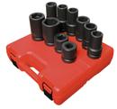 Sunex Tool SU5690A 10 Piece SAE/MM Impact Truck Socket Set