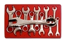 V8 Tools VT8910 10 Piece Metric Stubby Combination Wrench Set