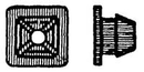 W & E Sales WE818 LICENSE PLATE NUT(PLASTIC) Pack of 50