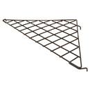 """Econoco BLKS-90 24"""" x 24"""" x 34-1/2"""" Triangular Shelf"""