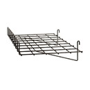 "Econoco BLKS-93 24""L x 15""D Straight Shelf w/ Front Lip"