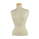 Econoco F5 Female Blouse Form Tailor Bust, Neckblock Included, Creme