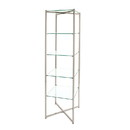 "Econoco FLT68CGLSNS 68""H Folding Glass Towers with Chrome finish"