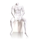 Econoco GEN-5-HL Male Mannequin - Headless, Seated, 63